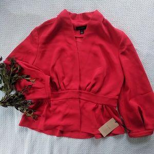 Halogen Red Blouson Sleeve Jacket